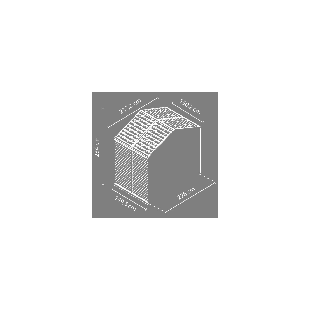 Palram Rozšiřovací modul 8x4 pro domky série Skylight 8 (hnědý)