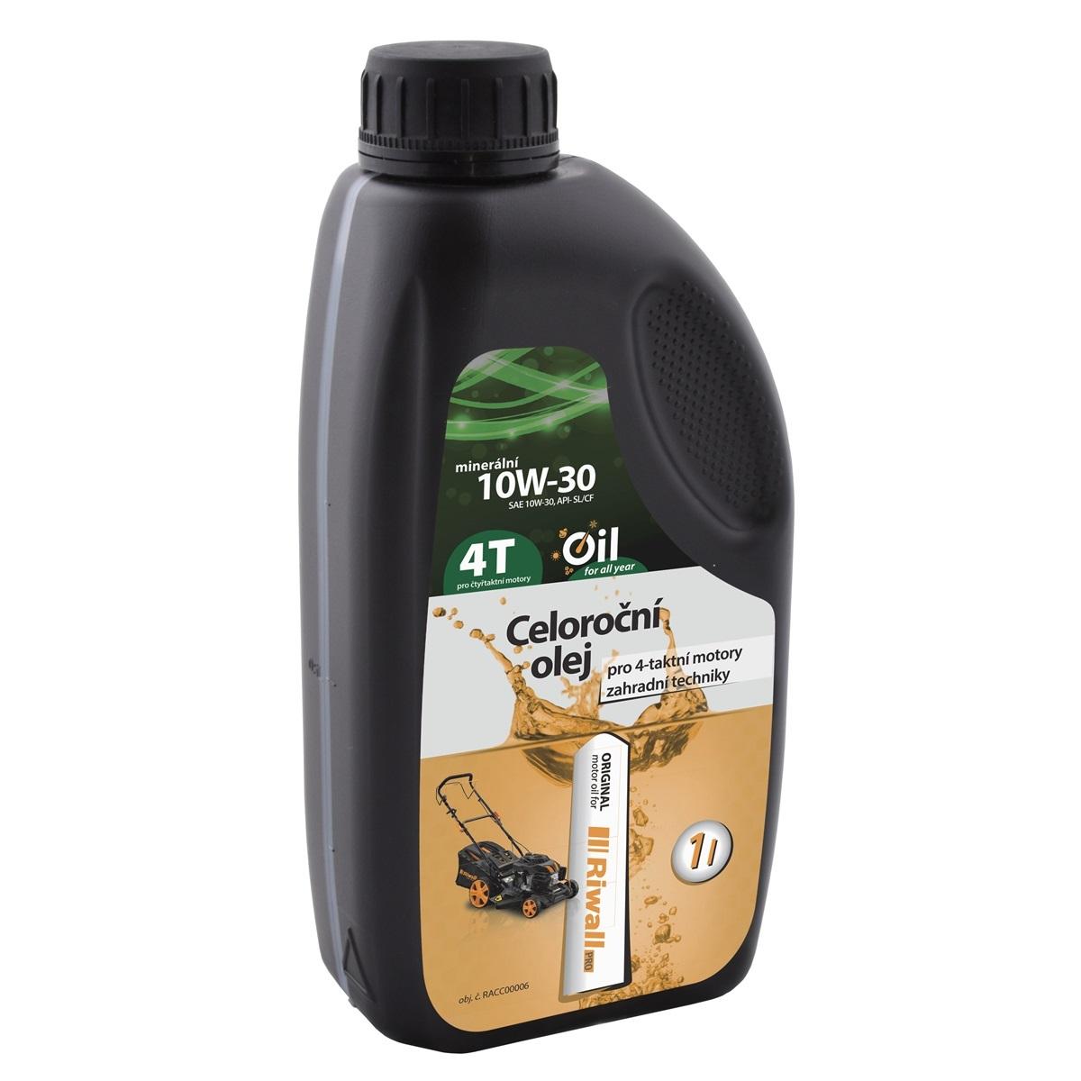 Celoroční olej Riwall pro 4-taktní motory (1 l, SAE10W-30)