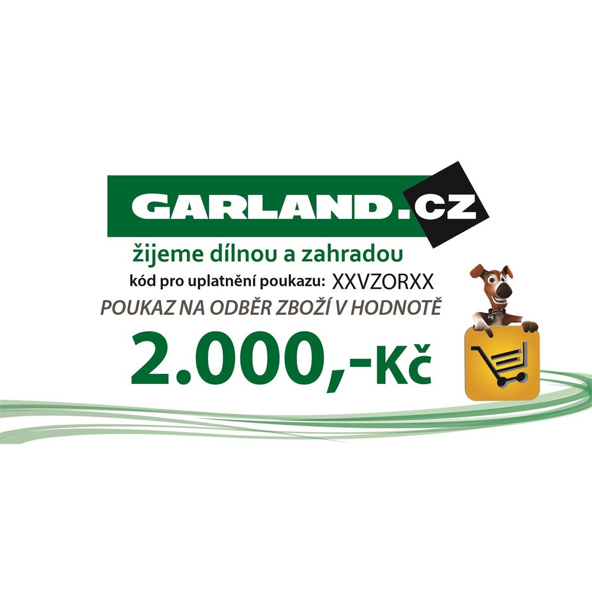 Dárkový poukaz GARLAND.cz 2000 Kč