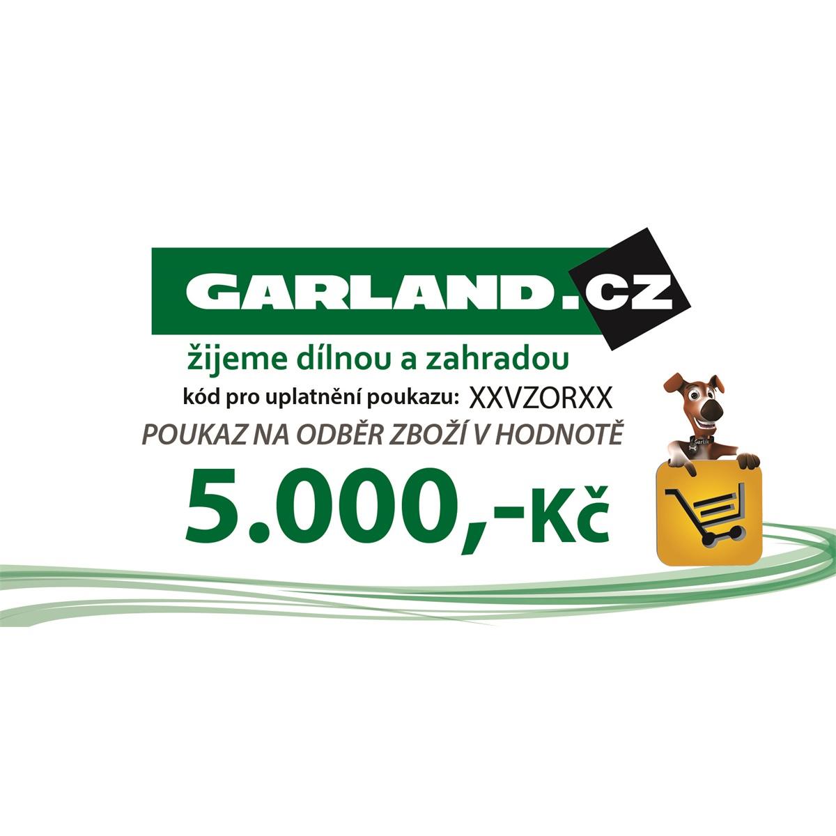 Dárkový poukaz GARLAND.cz 5000 Kč