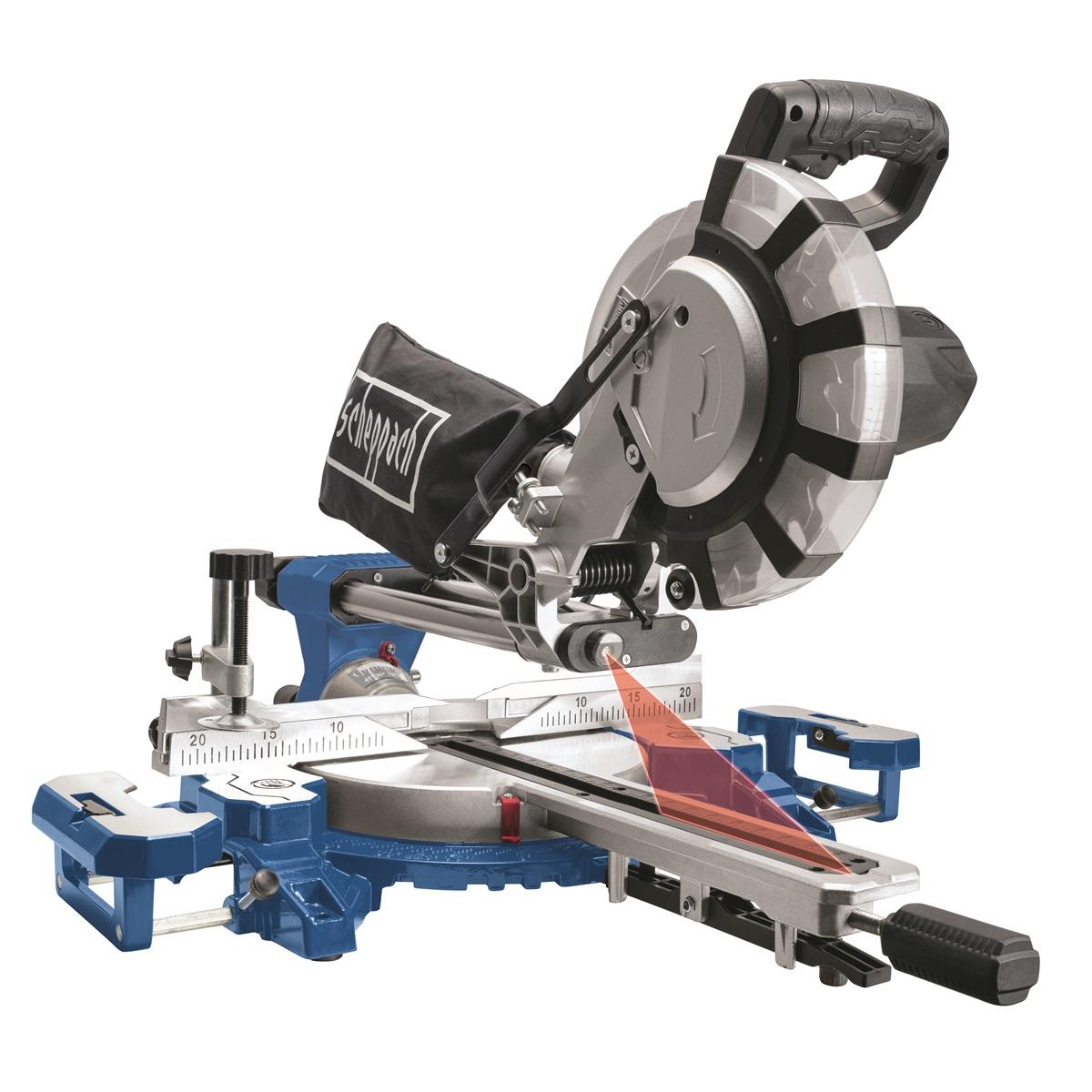 Scheppach HM 216 SPX pokosová pila s potahem a laserem