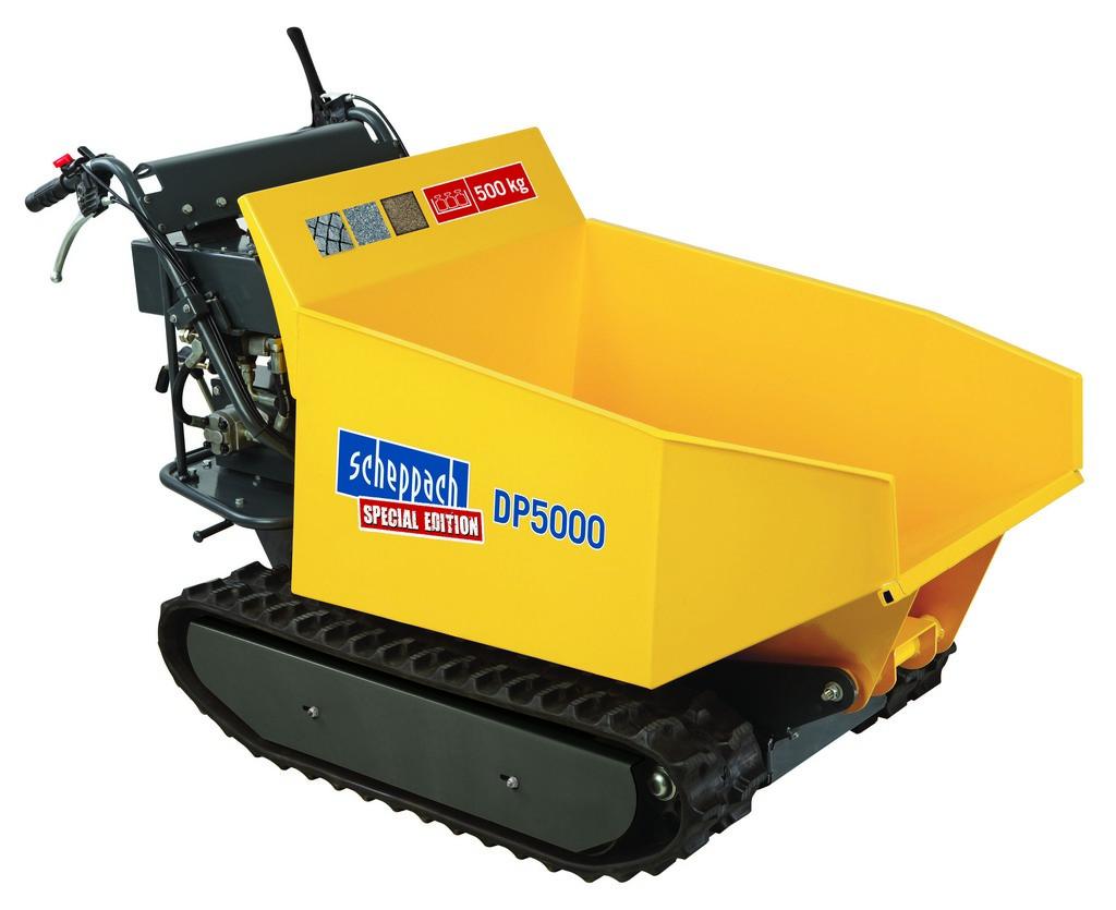 Scheppach DP 5000 pásový přepravník 500 kg s hydraulickým sklápěním korby