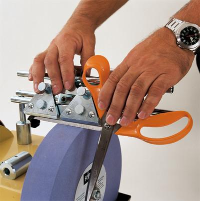 Scheppach jig 160 přípravek na broušení nůžek