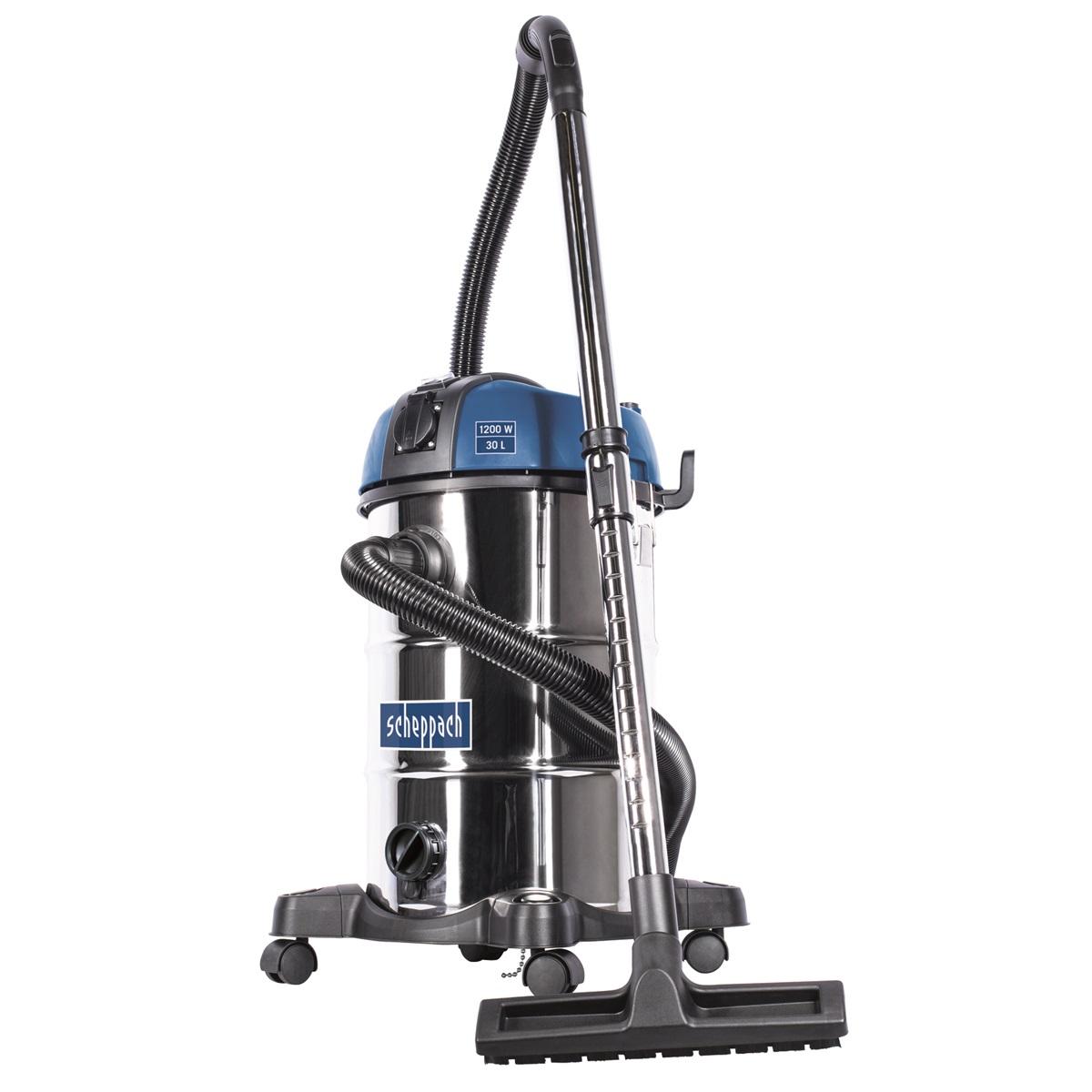 Scheppach ASP 30 PLUS průmyslový vysavač na suché/mokré vysávání 30 l s mechanickým oklepem filtru