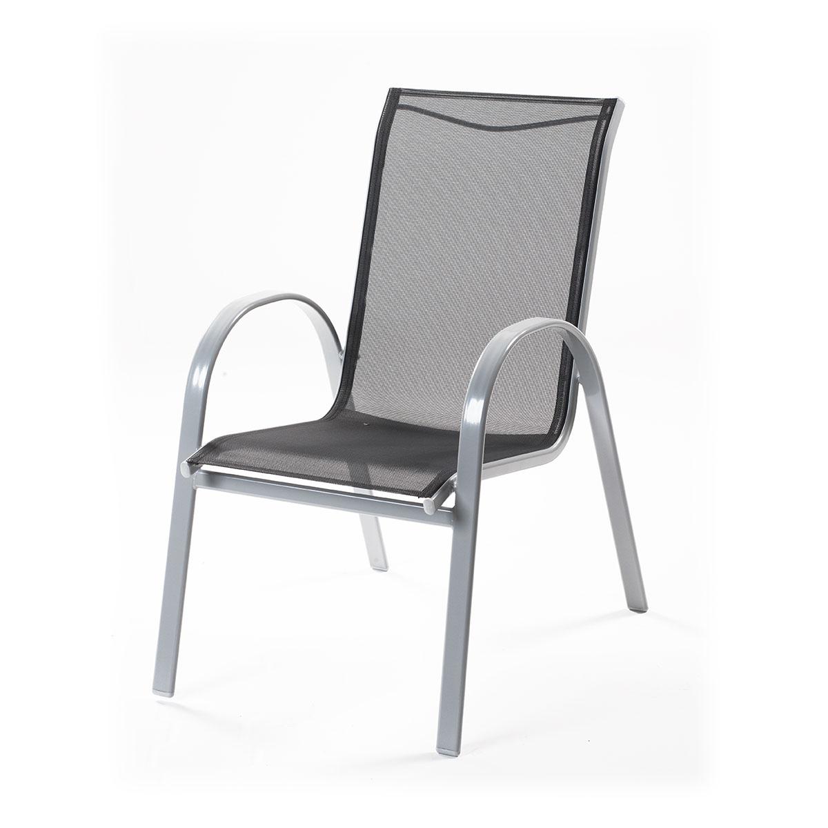 Creador Vera Basic hliníková stohovatelná židle 74 x 56 x 94 cm