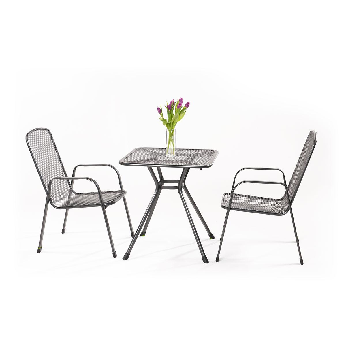 MWH Sabi 2+ sestava nábytku z tahokovu (2x židle Savoy Basic, 1x stůl Tavio 70)
